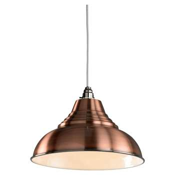 Vintage Pendant Light Shade Copper (H36.2 x W33 x D33cm)