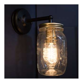 Vintage Preserve Jar Wall Light (Diameter 9.5cm)