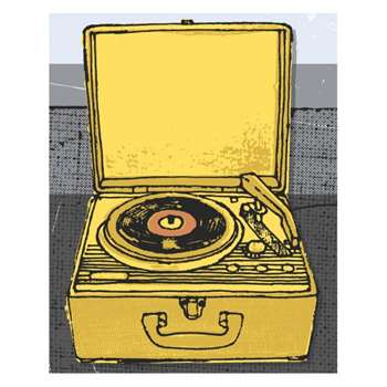 Vintage Record 40 x 50 cm Print by Kavel Rafferty