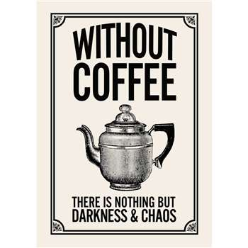 Vintage Style Coffee Quote Print (H29.7 x W21cm)