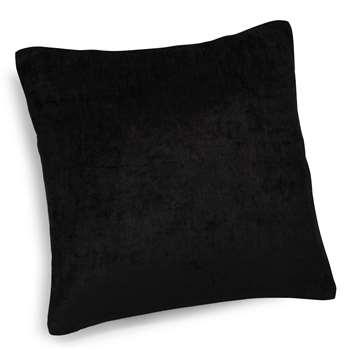 VINTAGE VELVET BELOUGA black velvet cushion (45 x 45cm)