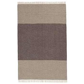 Visby Wool Blanket, Brown & Cream (H140 x W220cm)