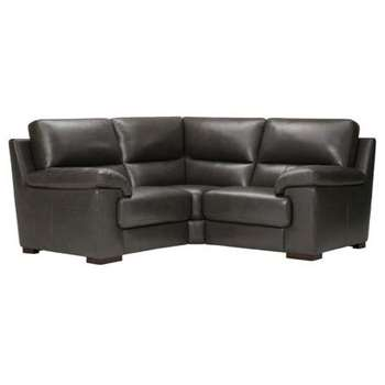 Vision Anthracite Leather Modular Group 1 (H91 x W189 x D189cm)