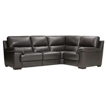 Vision Anthracite Leather Modular Group 2 (H91 x W251 x D189cm)
