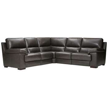 Vision Anthracite Leather Modular Group 3 (H91 x W251 x D251cm)
