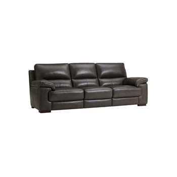 Vision Anthracite Leather Modular Group 9 (H91 x W242 x D98cm)