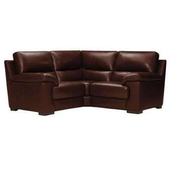Vision Brown Leather Modular Group 1 (H91 x W189 x D189cm)