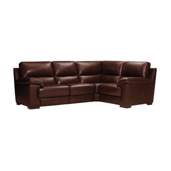 Vision Brown Leather Modular Group 2 (H91 x W251 x D189cm)
