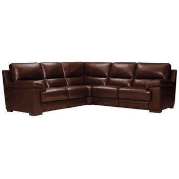 Vision Brown Leather Modular Group 3 (H91 x W251 x D251cm)