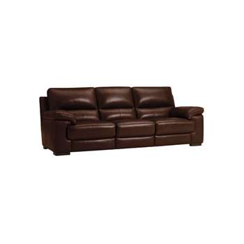 Vision Brown Leather Modular Group 9 (H91 x W242 x D98cm)