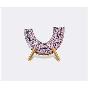 Visionnaire Decorative Objects - Fauna Cavallo vase in Black/pink/purple (H30 x W36 x D18cm)