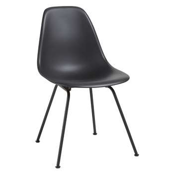 Vitra Eames DSX 43cm Side Chair, Black