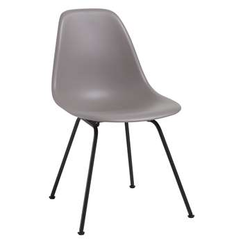 Vitra Eames DSX 43cm Side Chair, Mauve Grey / Black