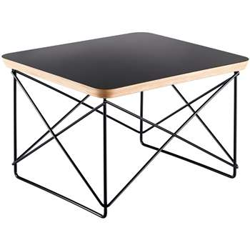 Vitra Eames LTR Occasional Side Table, Black 25 x 39cm