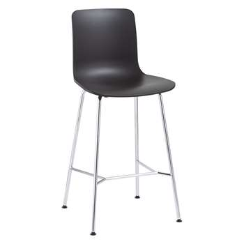 Vitra HAL Bar Chair, Basic Dark (H100.5 x W49.5 x D49cm)