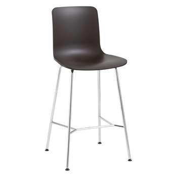 Vitra HAL Bar Chair, Chocolate (H100.5 x W49.5 x D49cm)