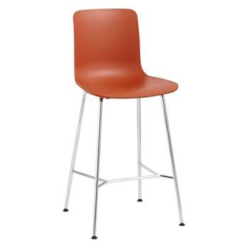 Vitra HAL Bar Chair, Orange (H100.5 x W49.5 x D49cm)