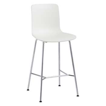 Vitra HAL Bar Chair, White (H100.5 x W49.5 x D49cm)