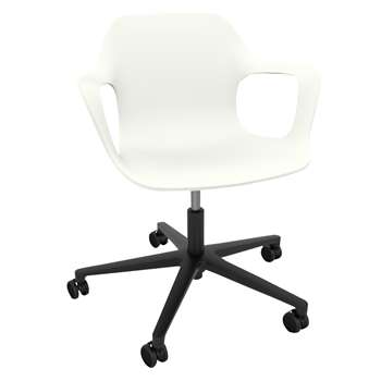 Vitra HAL Studio Armchair, White (H86 x W71 x D71cm)