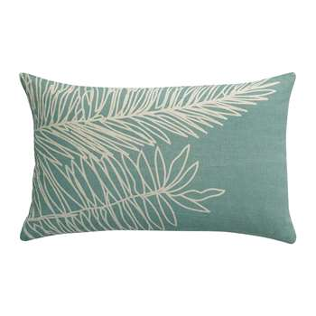 Vivaraise - Palm Leaf Cushion - Mint Green (H40 x W65cm)