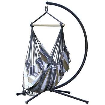 Vivere Brazil Hammock Chair with Stand - Desert Moon (216 x 140cm)