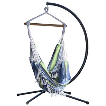 Vivere Brazil Hammock Chair with Stand - Oasis (216 x 140cm)