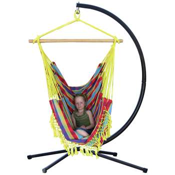 Vivere Brazil Hammock Chair with Stand - Paradise (216 x 140cm)