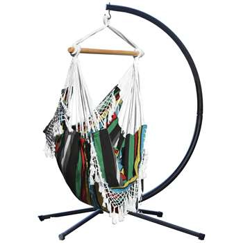 Vivere Brazil Hammock Chair with Stand - Rio Night (216 x 140cm)