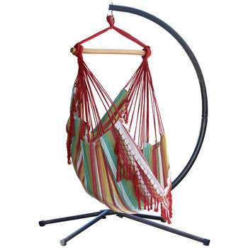 Vivere Brazil Hammock Chair with Stand - Salsa (216 x 140cm)