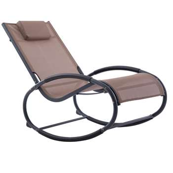 Vivere Wave Rocker - Macchiato On Matte Grey (H92 x W61 x D122cm)