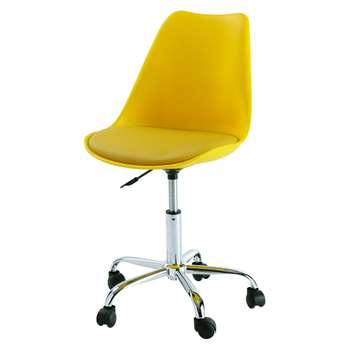 vOffice chair on castors in yellow (80 x 53cm)