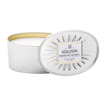 Voluspa - Vermeil 2 Wick Candle - Branche Vermeil - 340g (H7 x W9.3 x D9.3cm)