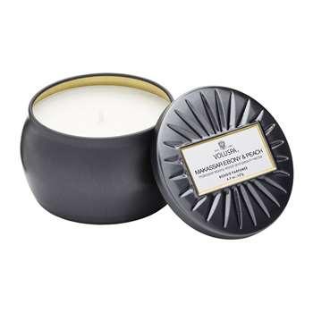 Voluspa - Vermeil Candle - Makassar Ebony & Peach - 127g (H5 x W7.5 x D7.5cm)