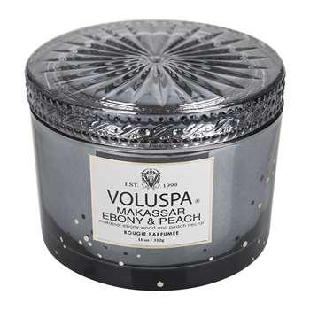 Voluspa - Vermeil Maison Candle - Makassar Ebony & Peach - 311g (H8 x W10.5 x D10.5cm)
