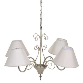 VOLUTE metal 4 branch chandelier D 60cm