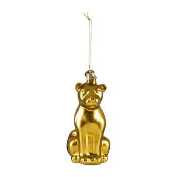 Vondels - Old Panther Tree Decoration - Gold - Large (Height 11cm)