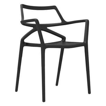 Vondom - Delta Chair - Black (H80 x W59 x D50cm)