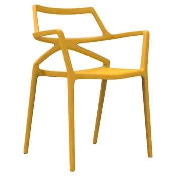 Vondom - Delta Chair - Mustard (H80 x W59 x D50cm)