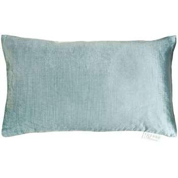 Voyage Velvet Como Cushion, Duck Egg (H30 x W50cm)