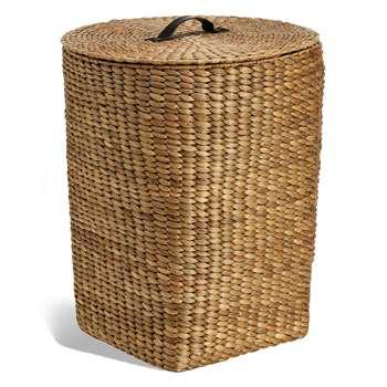 Water Hyacinth Laundry Basket (H53 x W43.5 x D43.5cm)