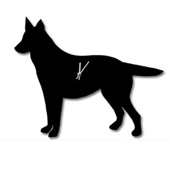 Wagging Tail Dog Clock in German Shepherd 34 x 46cm