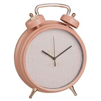 WAKE UP Pink Vintage Alarm Clock (31 x 25cm)