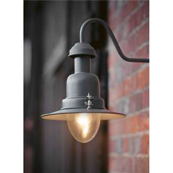 Wall Mounted Fishing Lamp in Charcoal (38 x 25.5cm)