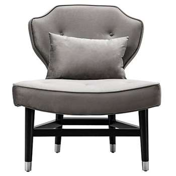 Wallberg Occasional Chair Dove Grey (H91 x W79 x D80cm)