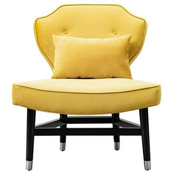Wallberg Occasional Chair Mustard (H91 x W79 x D80cm)