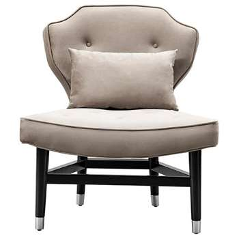 Wallberg Occasional Chair Taupe (H91 x W79 x D80cm)