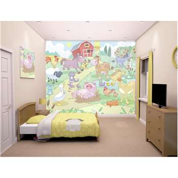 Walltastic Baby Fun on the Farm Wallpaper Mural