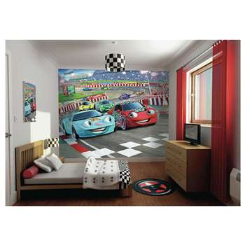 Walltastic Car Racers Wallpaper Mural (244 x 305cm)