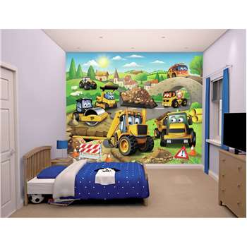 Walltastic My First JCB Wallpaper Mural