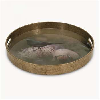 Waltham Small Round Tray with Bird Pattern (4.5 x 37.5cm)